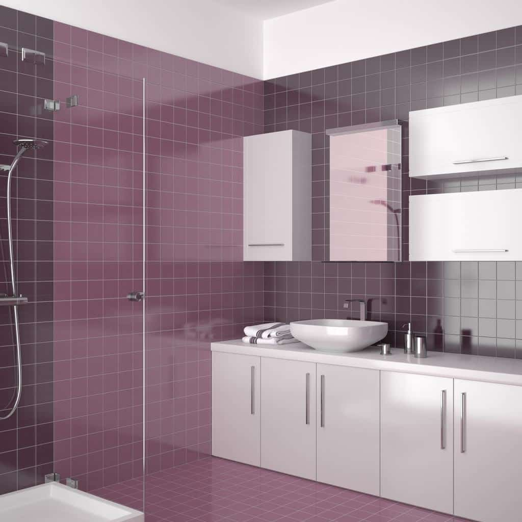 douche italienne violette exemple