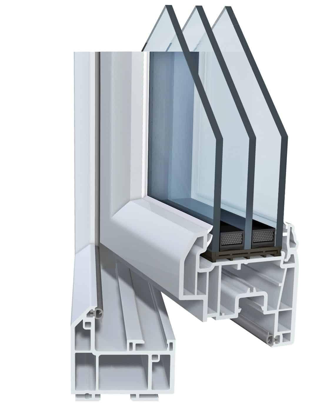 Triple vitrage fenêtre